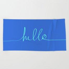 Hello, Sailor Beach Towel