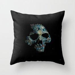 Holy Starman Skull Throw Pillow