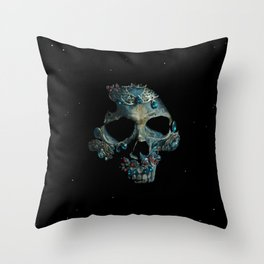 Holy Starman Skull Throw Pillow