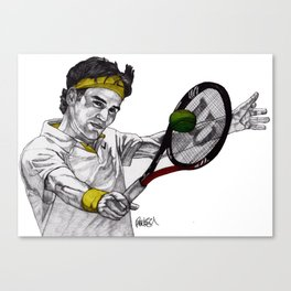 Tennis Federer Canvas Print