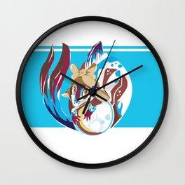 Fish Dragon Vector Wall Clock