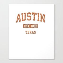 Austin Texas TX Vintage Athletic Sports Design Pullover Hoodie Canvas Print