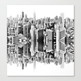 Mirror City Canvas Print