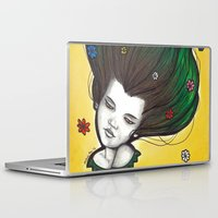 flora Laptop & iPad Skins featuring Flora by Melanie Arias
