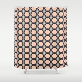 Pink Hexies Shower Curtain