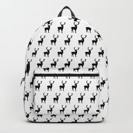 Black and white scandinavian deers Backpack
