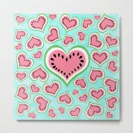 Watermelon Love... Metal Print