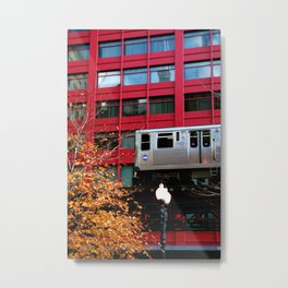 Red EL - Chicago Metal Print