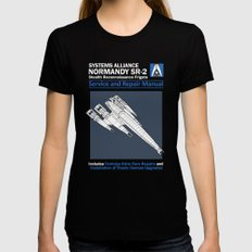 Normandy SR-2 Systems Alliance Service and Repair Manual MEDIUM Black Womens Fitted Tee