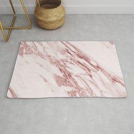 Deep rose pink marble Rug