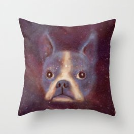 Boston Terrier Nebula Throw Pillow