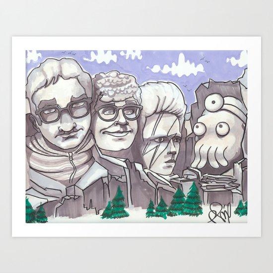 Mount Rickmore Art Print