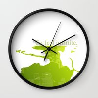 infinite Wall Clocks featuring Infinite by kimberlyjyDesigns