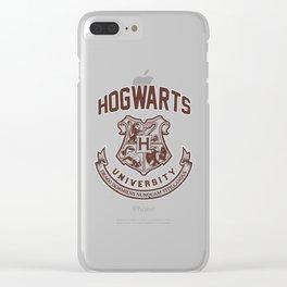 Hogwarts University Clear iPhone Case