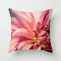 dahlia Throw Pillows featuring Dahlia  by A Wandering Soul