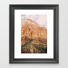 zion national park 3 Framed Art Print