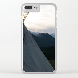 Teepee Campout Clear iPhone Case