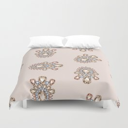 Jewelbox: Morganite Brooch in Light Blush Duvet Cover