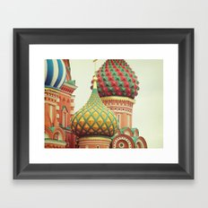 Russian Onion Domes Framed Art Print