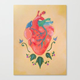 Corazon de melon Canvas Print