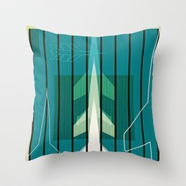 Missiles at dawn... in green! Throw Pillow