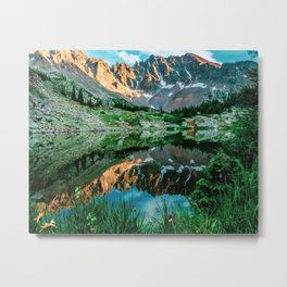 Sun Ridge Lake Reflection // Incredible Backpacking Trip Wild Flowers and Natural Beauty Metal Print