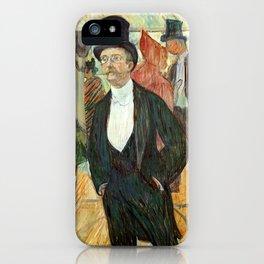 """Henri de Toulouse-Lautrec """"Monsieur Henri Fourcade au Bal de l'Opéra"""" iPhone Case"""