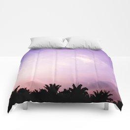 Blush pink purple sky Comforters