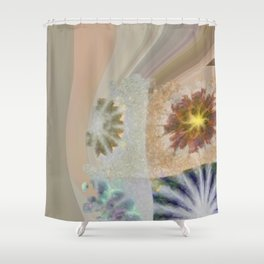 Benching Constitution Flowers  ID:16165-063617-72980 Shower Curtain