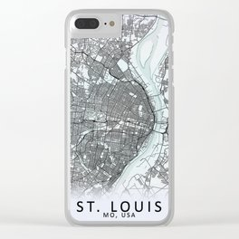 St Louis MO USA White City Map Clear iPhone Case