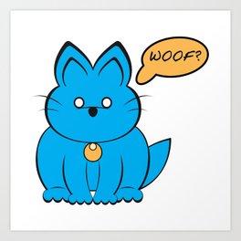 Cat Dog ? Art Print