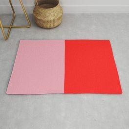 Watermelon Red & Peach Pink Rug