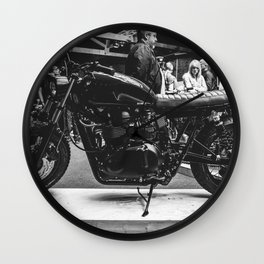 Bike Shed Wall Clock