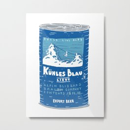 Kuhles Blau Light Metal Print