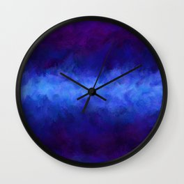 Dark Cosmic Storm Wall Clock