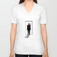 fargo V-neck T-shirts featuring See you later, Lester by Fresco Umbiatore