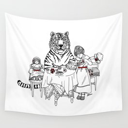 Have a Tiger to Tea Wall Tapestry