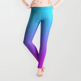 blue pink love Leggings