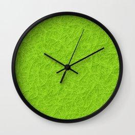 Lime green 3D carpet texture Wall Clock