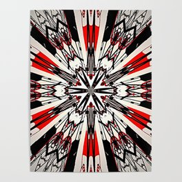 Red And Black Helping Hands Mandala Poster