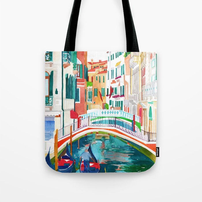 Canal in Venice Tote Bag