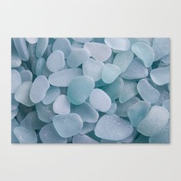 Aqua Sea Glass - Up Close & Personal Canvas Print