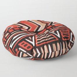 Aztec lino print Floor Pillow