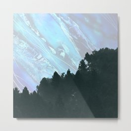 Abstract Nature Mountain Metal Print
