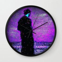 Uomo in Lilla Wall Clock