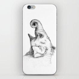Elephant baby - sketch iPhone Skin