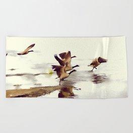 The Take Off - Wild Geese Beach Towel