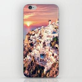 Santorini Sunset View iPhone Skin