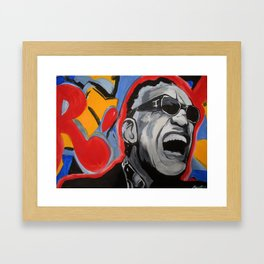 Ray Charles Painting Framed Art Print