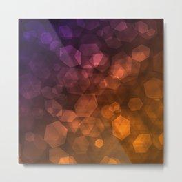 Orange blue abstract pattern . Metal Print